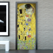 door cover klimt il bacio